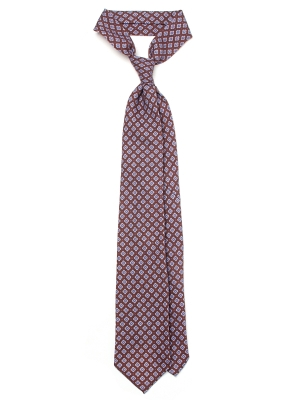 Spalla Sette Pieghe Flower Printed 8.5cm Wool Tie