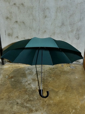 Fox Umbrellas TEL-1 Black Maple Wood - Dark Green