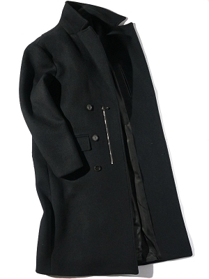 Synopsis New Double Breast 7pl Coat - Black