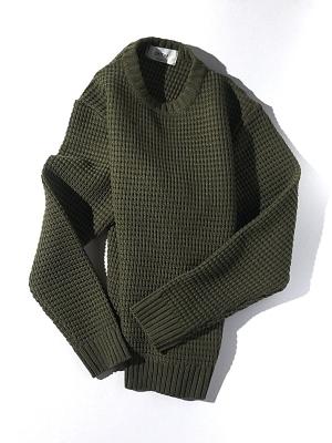 Unitus Waffle Crew Sweater - Olive
