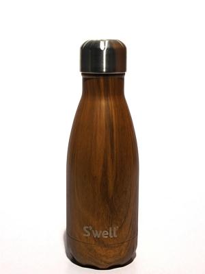 Swell Bottle 9oz Teak Wood