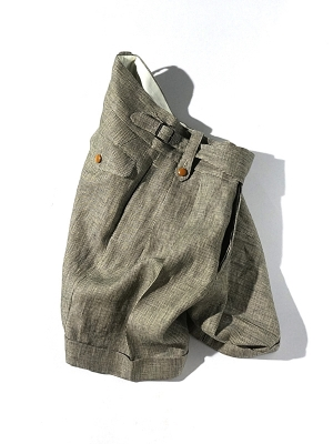Haversack Attire Linen Pincheck Short Pants