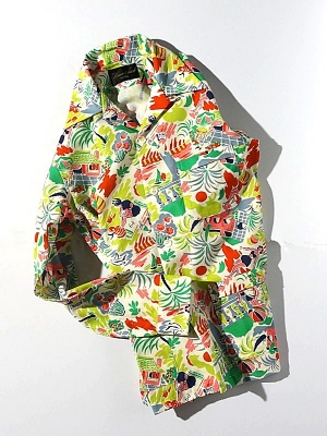 Haversack Attire Tropical Print Shirt