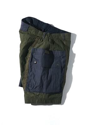 Eastlogue Wagon Shorts - Olive/Navy