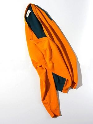 Unitus Color Block Cardigan  - Orange