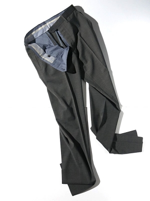 Germano 345 4606 Travel Line Slacks - Charcoal