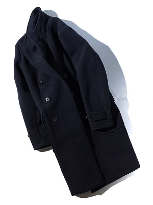 East Harbour Surplus Amos DB Coat - Navy
