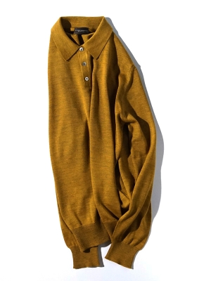 Morgano  19 518 Polo Knit  - Camel
