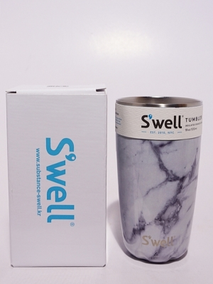 Swell Bottle Tumbler Collection 18oz   - White Marble