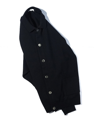 Yashiki Oboro Collar Cardigan - Black