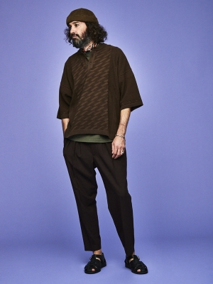Yashiki Seiryu Henley Knit - White