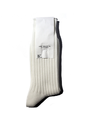 Lady White Co Socks - White