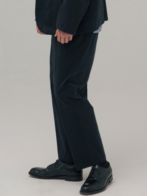 Pottery Washed Tapered Pants - Navy