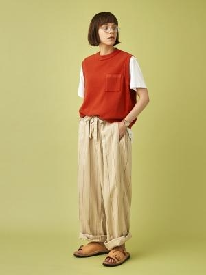 Yashiki Wakakusa Knit Vest - Orange