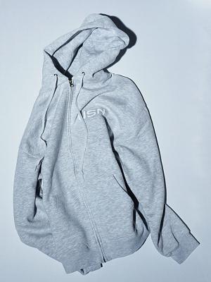 Wild Donkey CZ883 Hood Zip Up - Grey