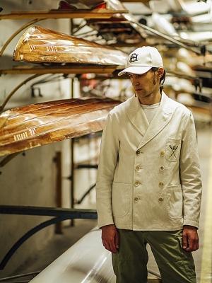 East Harbour Surplus Jean Double Jacket - Off White