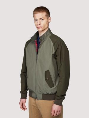 Baracuta G9 Colour Block Jacket - Army