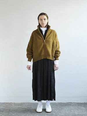 Yashiki Akane Knit Blouson - Ocher