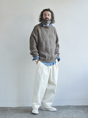 Yashiki Ochiba Knit - Greige
